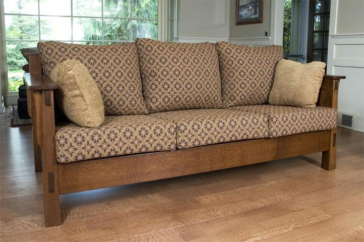Wolfe High Back Sofa – Ohio Hardword & Upholstered Furniture In Shaker Sofas (Image 20 of 20)