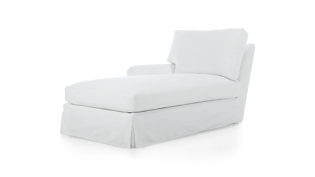 Wonderful Chaise Lounge Slipcovers Potterybarn Sofa U Love Chaise Within Slipcovers For Chaise Lounge Sofas (Image 20 of 20)