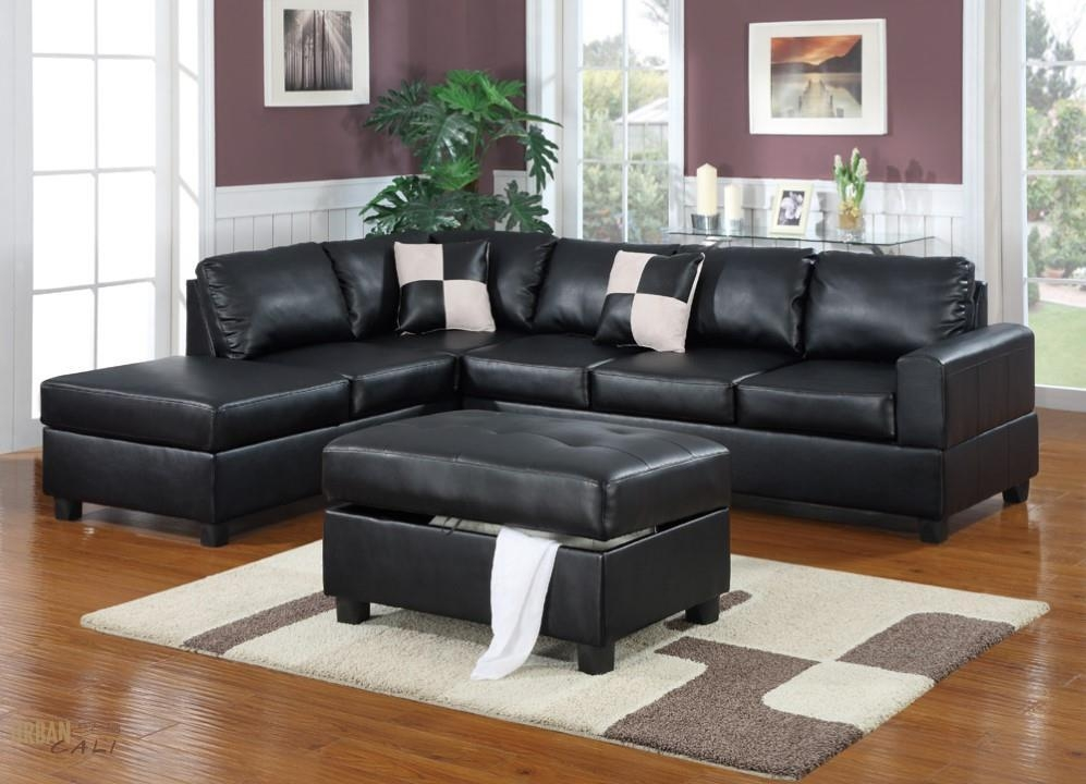 Wonderful Leather Sectional Sofas With Chaise Sofa Ottoman 63 For Black Leather Chaise Sofas (View 4 of 20)