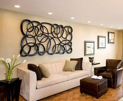 Wonderful Wall Art Ideas To Spruce Up Your Living Room Walls With Unusual Metal Wall Art (Image 20 of 20)