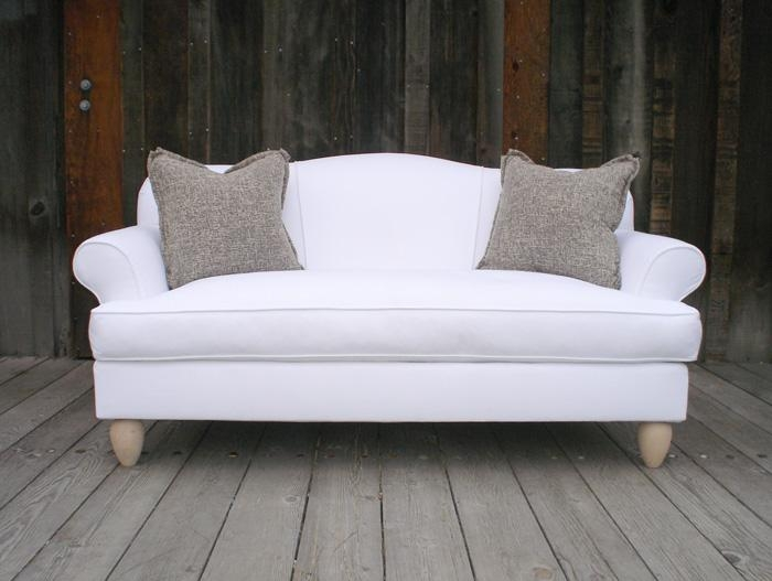 Wonderful Winter White – Chameleon Style® In Camel Back Couch Slipcovers (View 19 of 20)