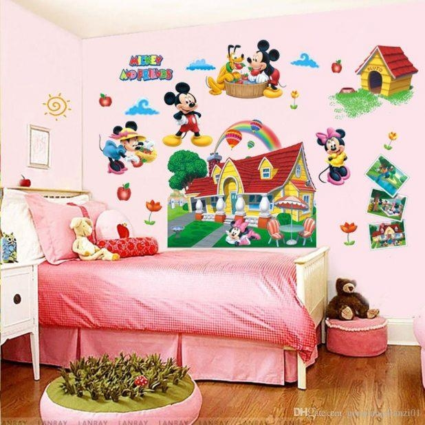 Wondrous Mickey Mouse Wall Art Ideas Mickey Mouse Wall Sticker With Mickey Mouse Clubhouse Wall Art (Image 20 of 20)