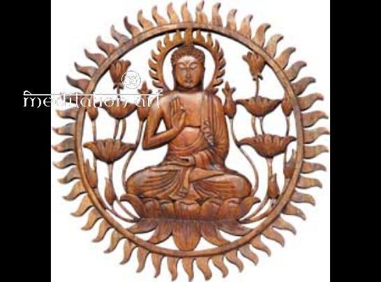 Wood Buddha Plaque Pertaining To Buddha Wood Wall Art (Image 15 of 20)