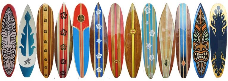 Wood Decorative Surfboard Wall Art Beach Decor Intended For Decorative Surfboard Wall Art (Image 17 of 20)
