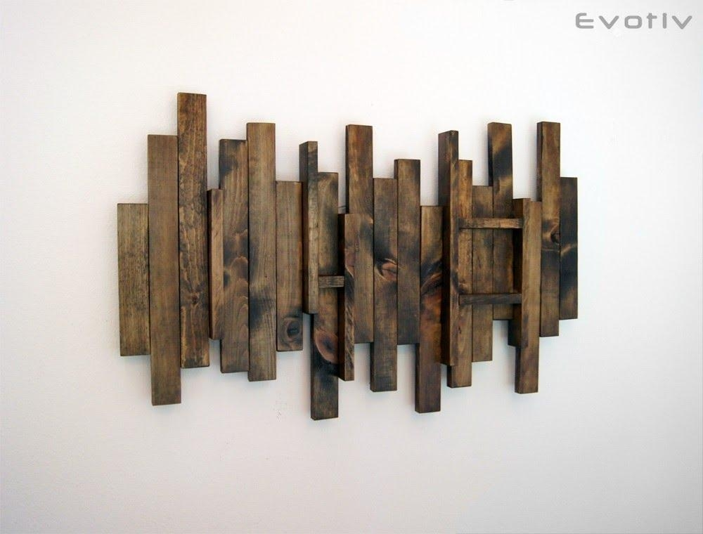 Wood Wall Art – Contemporary Wood Wall Art – Youtube Within Contemporary Wall Art (View 11 of 20)