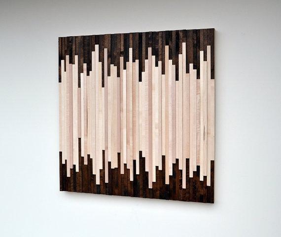 Wood Wall Art Wood Art Sculpture Reclaimed Wood Art Wall For Dark Wood Wall Art (View 11 of 20)