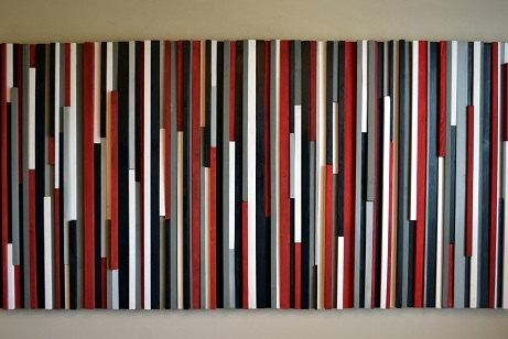 Wood Wall Art Wood Sculpture 3D Art Recycled Wood Art Regarding Black White And Red Wall Art (View 2 of 20)