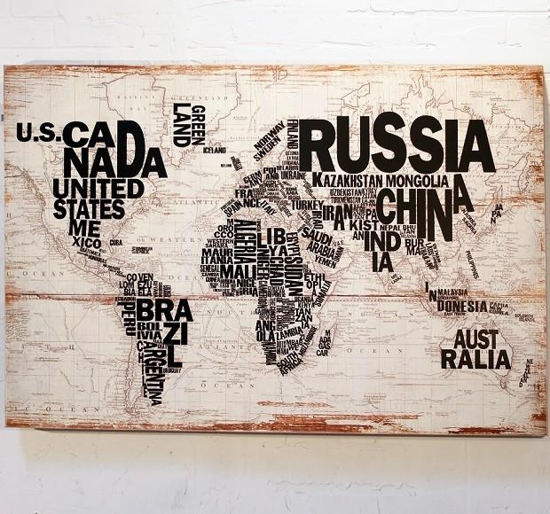 Wood Wall Map Wall Decor | Antique Farmhouse Inside World Map Wood Wall Art (Image 20 of 20)