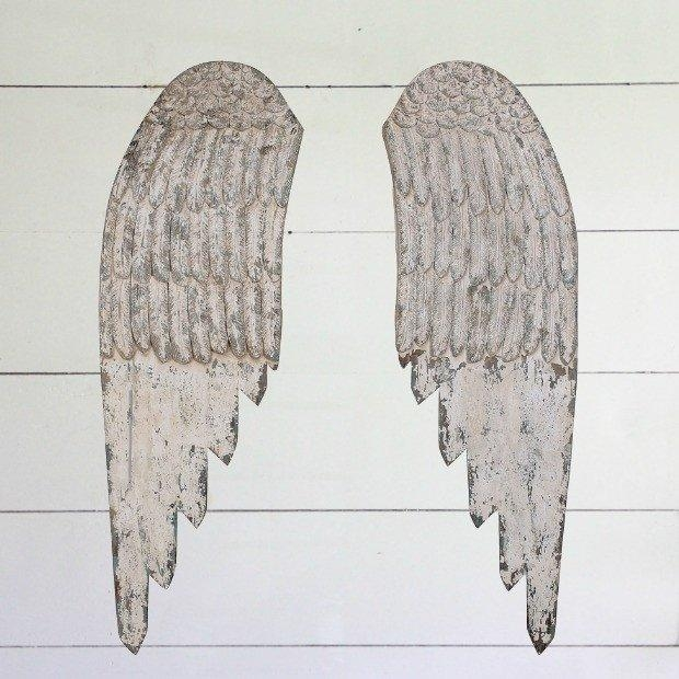 Wooden Angel Wings Wall Art | Antique Farmhouse In Angel Wings Wall Art (View 14 of 20)
