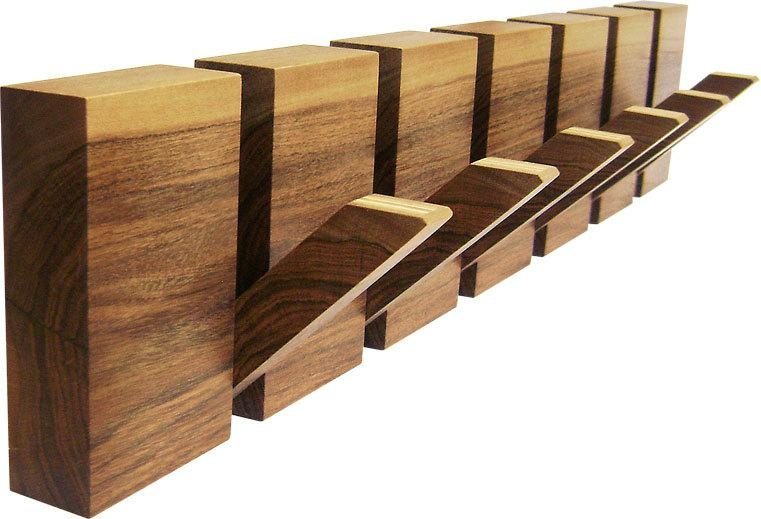 Wooden Coat Rack 6 Hooks Coat Hanger Wood Wall Art Wooden For Wall Art Coat Hooks (View 20 of 20)