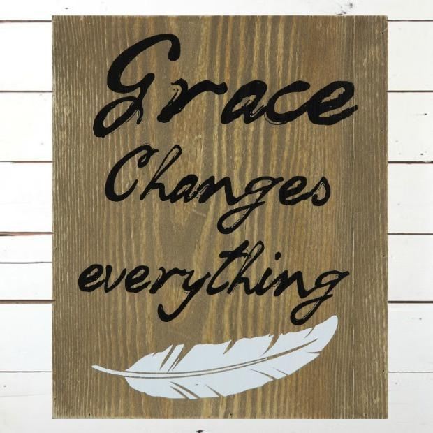 Wooden Grace Wall Art | Antique Farmhouse With Grace Wall Art (View 4 of 20)