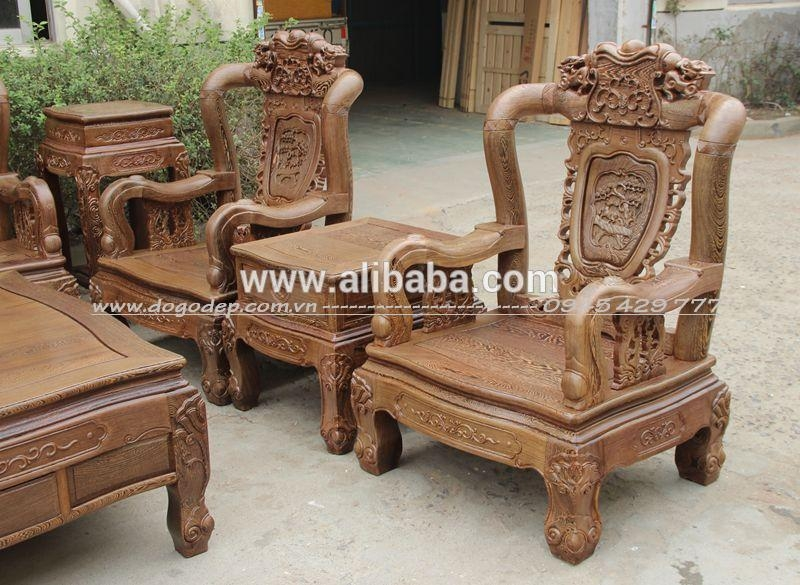 Wooden Sofa Sets – Carved Wooden Crafts Natural For Living Room With Regard To Carved Wood Sofas (View 1 of 20)
