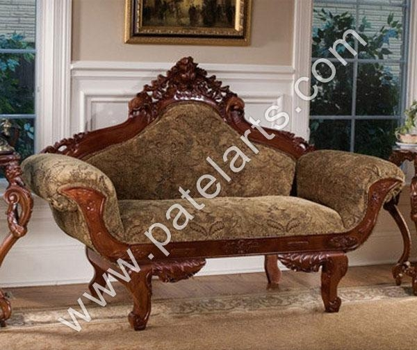 Wooden Sofa Sets, Indian Carved Sofa Sets, Carving Wooden Sofa With Carved Wood Sofas (View 12 of 20)