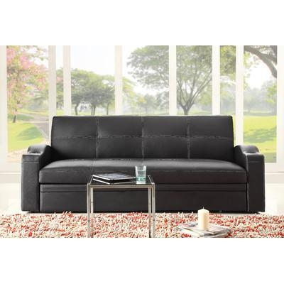Woodhaven Hill Novak Sleeper Sofa & Reviews | Wayfair Inside Convertible Queen Sofas (Image 20 of 20)