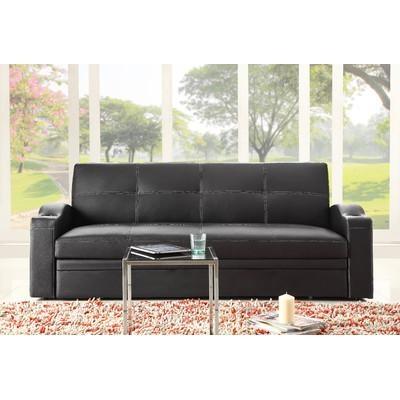 Woodhaven Hill Novak Sleeper Sofa & Reviews | Wayfair Inside Convertible Queen Sofas (View 9 of 20)