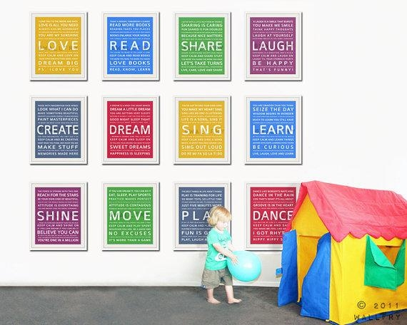 Word Art Wall Art For Kids (Image 20 of 20)