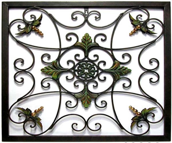 Wrought Iron Wall Decor – Good Decorating Ideas Intended For Faux Wrought Iron Wall Decors (View 16 of 20)