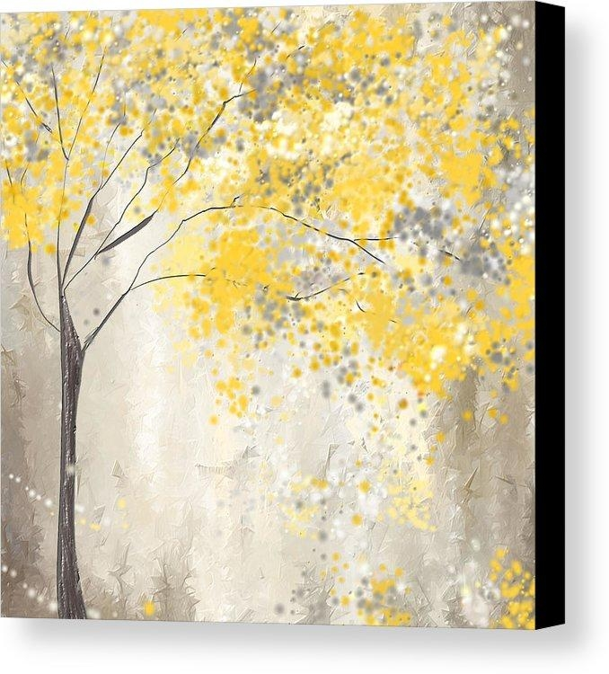 Yellow And Grey Canvas Prints | Fine Art America Within Yellow Grey Wall Art (Image 17 of 20)