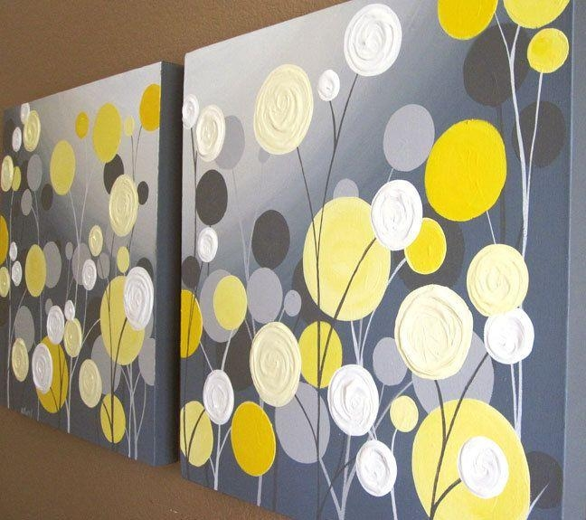 Yellow And Grey Wall Art Lovely Wall Art Decals On Cool Wall Art In Large Yellow Wall Art (Image 18 of 20)