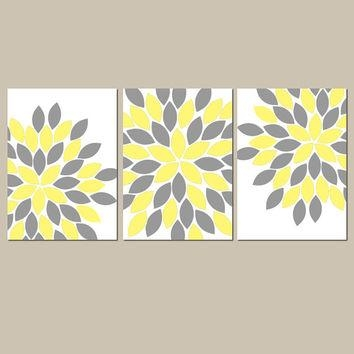 Yellow Gray Wall Art Canvas Or Prints From Trm Design | Wall Art Regarding Gray And Yellow Wall Art (Image 20 of 20)