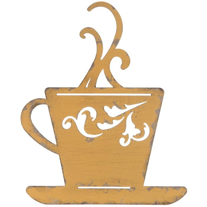 Yellow Metal Coffee Cup Wall Decor | Hobby Lobby | 1120682 In Metal Coffee Cup Wall Art (Image 20 of 20)