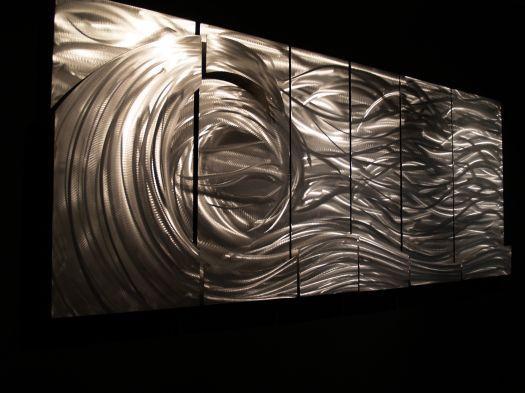 """Yessy > Ash Carl > """"tidal"""" In Ash Carl Metal Art (Photo 2 of 20)"""
