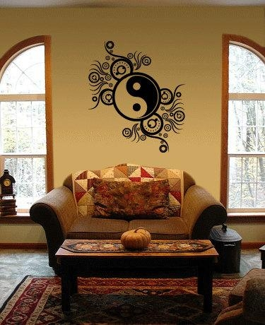 Ying Yang Vinyl Wall Art Decal Within Yin Yang Wall Art (View 2 of 20)