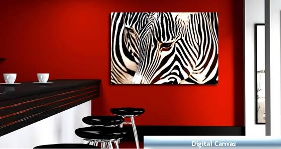 Zebras Digital Photo On Canvas | Dezign With A Z With Regard To Zebra Wall Art Canvas (Photo 19 of 20)