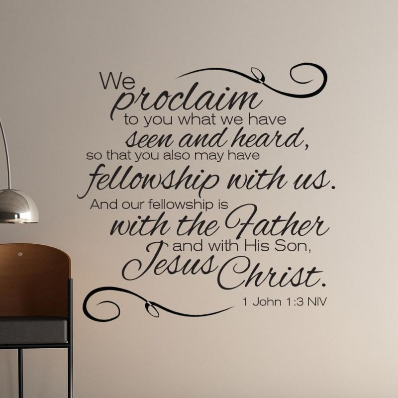 1 John 1:3 Scripture Wall Art | Divine Walls Pertaining To Biblical Wall Art (Image 1 of 20)