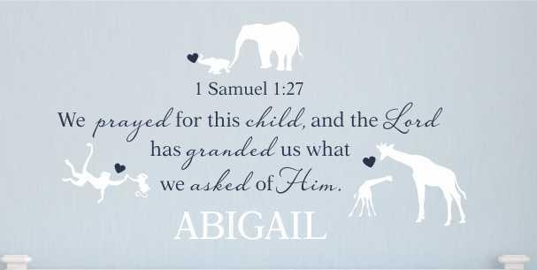 1 Samuel 1:27 – We Prayed For This Child – Personalized / Wall With Regard To For This Child I Prayed Wall Art (View 18 of 20)