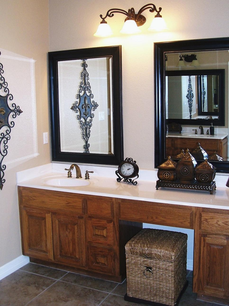 10 Beautiful Bathroom Mirrors | Hgtv Inside Decorative Mirrors For Bathroom Vanity (Image 1 of 20)