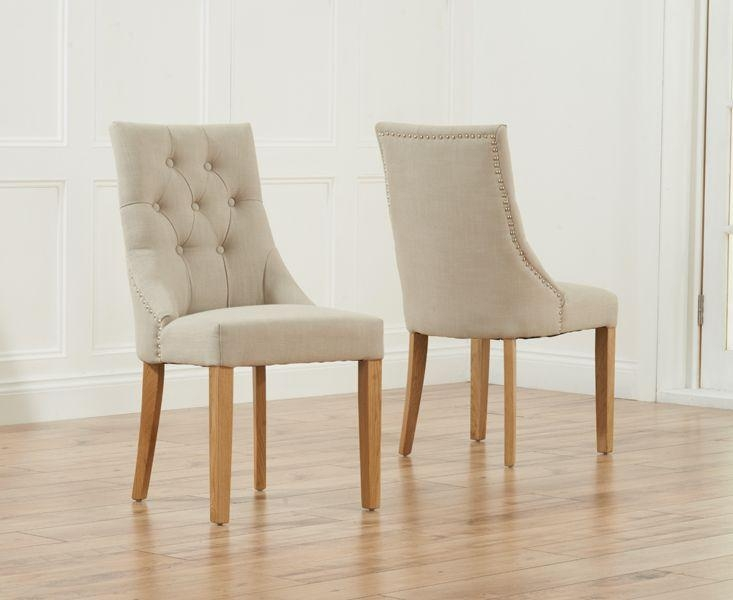 Featured Image of Oak Fabric Dining Chairs