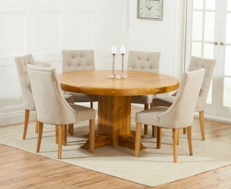 10 Best Dining Room Images On Pinterest | Chairs, Dining Room And With Regard To Most Up To Date Oak Round Dining Tables And Chairs (Image 1 of 20)