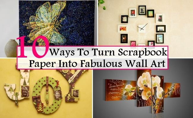 10 Best Ways To Turn Scrapbook Paper Into Fabulous Wall Art | Home With Regard To Turn Pictures Into Wall Art (Image 1 of 20)