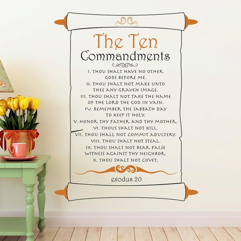 10 Commandments Exodus 20 Wall Decal | Divine Walls For 10 Commandments Wall Art (View 19 of 20)