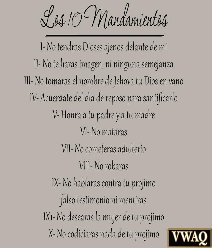 10 Commandments Spanish Vinyl Wall Decal Bible Ten Commandments For Ten Commandments Wall Art (View 7 of 20)