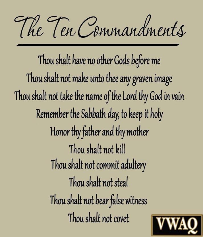 10 Commandments Vinyl Wall Decal Scripture Ten Commandments Bible Inside Ten Commandments Wall Art (Image 3 of 20)