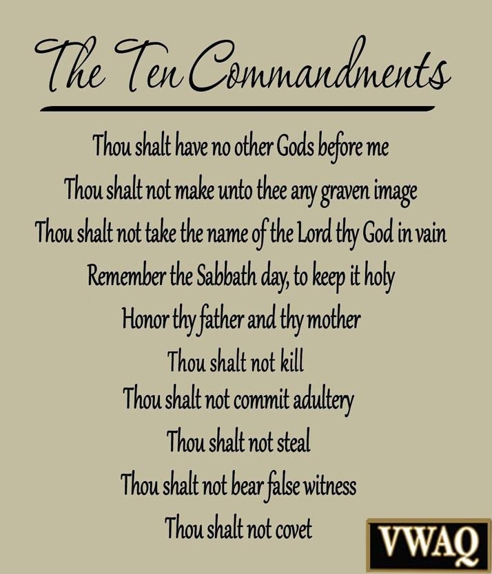 10 Commandments Vinyl Wall Decal Scripture Ten Commandments Bible Throughout 10 Commandments Wall Art (View 10 of 20)