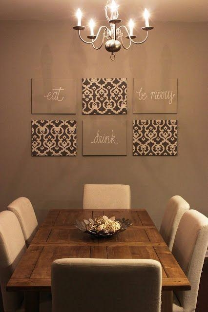 10 Diy Beautiful And Easy Living Room Decoration Ideas 7 | Burlap Within Canvas Wall Art For Dining Room (Image 1 of 20)