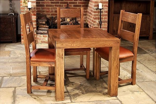 10 Fabulous Square Oak Dining Tables With Most Popular Square Oak Dining Tables (Image 1 of 20)
