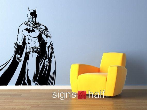 102 Best Aydin's Batcave Images On Pinterest | Wall Stickers, Dark Intended For Superhero Wall Art Stickers (Image 1 of 20)