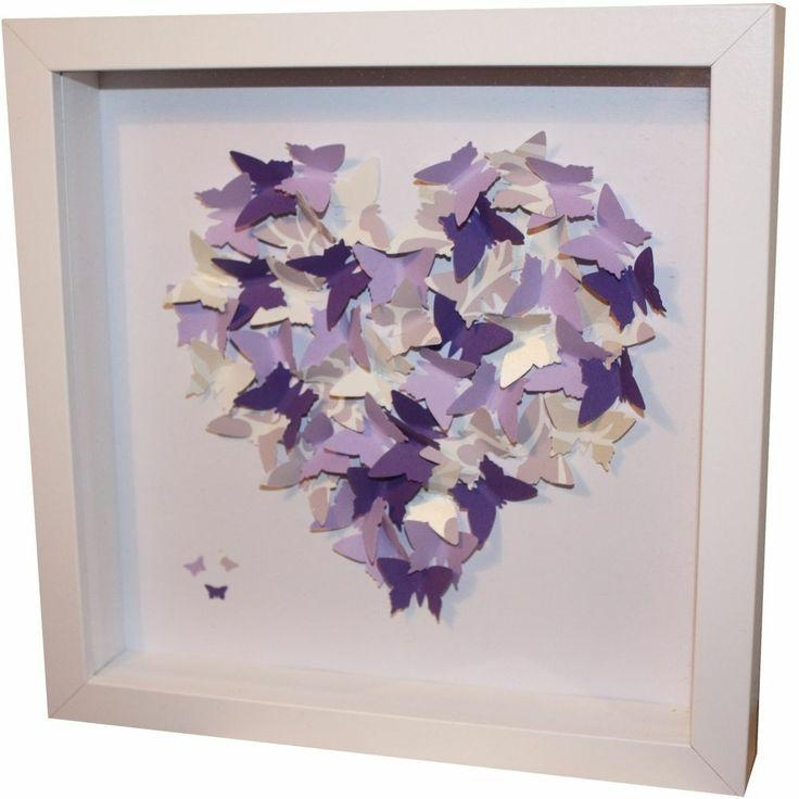 109 Best Frames Images On Pinterest | Box Frames, Paper And Frame For 3D Butterfly Framed Wall Art (Image 1 of 20)