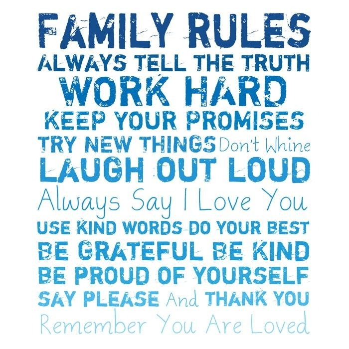 109 Best Quotes – Family Rules Images On Pinterest | Family Rules Pertaining To Family Rules Canvas Wall Art (View 19 of 20)