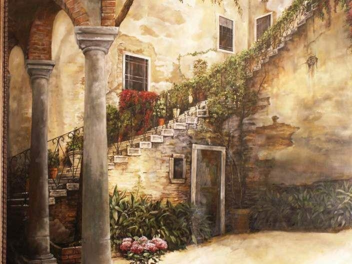 11 Best Murals  Italian Themes Images On Pinterest | Italian Theme Within Italian Art Wall Murals (View 2 of 20)