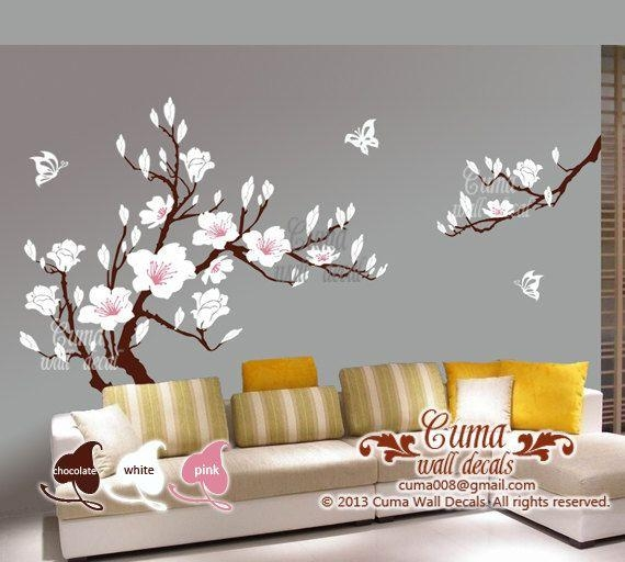 111 Best Wall Decal Images On Pinterest | Nursery Wall Decals Pertaining To Cherry Blossom Vinyl Wall Art (Image 1 of 20)