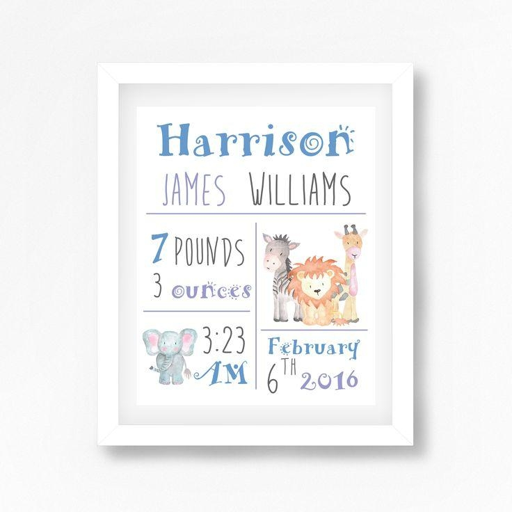119 Best Personalised New Baby Gifts Images On Pinterest | Baby For Personalized Baby Wall Art (Image 1 of 20)