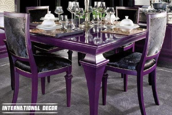 12 Art Deco Kitchen Designs And Furniture – Girl's Room Features Within 2017 Dining Tables And Purple Chairs (Image 2 of 20)
