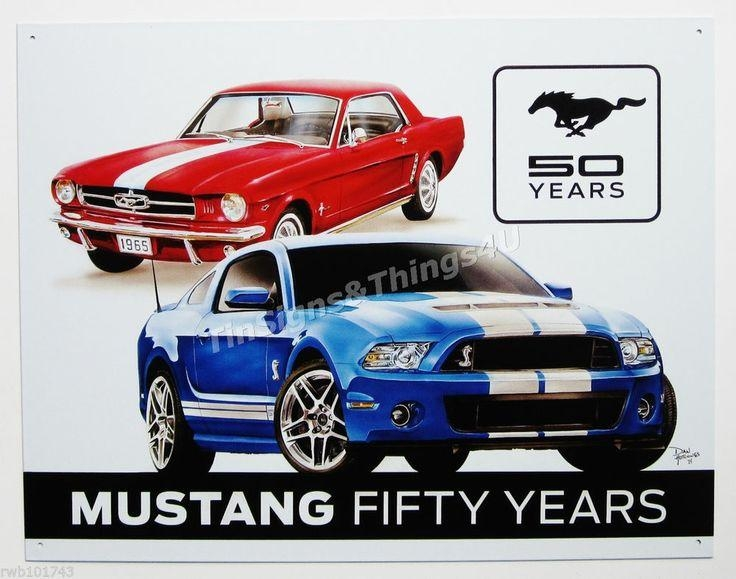 Ford mustang metal wall art wall art ideas for Garage reparation ford