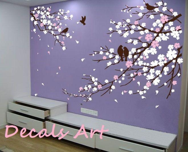 122 Best Cherry Blossom Decor Images On Pinterest | Cherry Regarding Cherry Blossom Vinyl Wall Art (Image 2 of 20)
