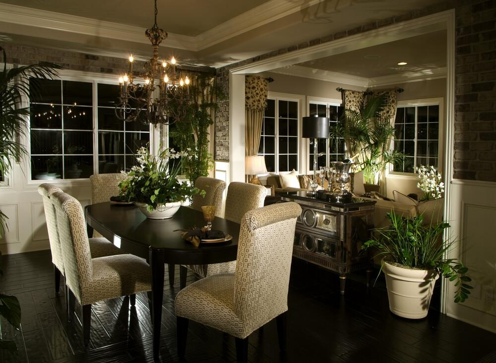 126 Custom Luxury Dining Room Interior Designs Regarding Most Recent Dark  Wood Dining Room Furniture (